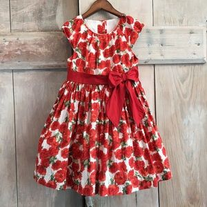 Janie and Jack City Stroll Floral Dress Roses 3T